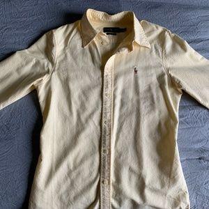 Ralph Lauren Button Down Yellow Shirt